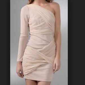Alice + Olivia 'Crissy Wrap' One Sleeve Dress